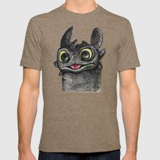 Dragon Toothless Mens Fitted Tee Tri-Coffee SMALL