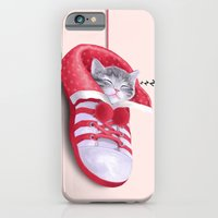 iPhone & iPod Case featuring Cat in the Shoe by Tummeow