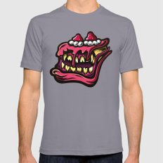 Cake Monster Mens Fitted Tee Slate SMALL