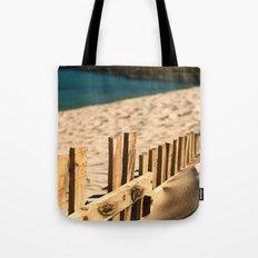 Fence beach Tote Bag