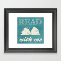 Read With Me Framed Art Print