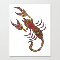 Tatoo Scorpion Canvas Print