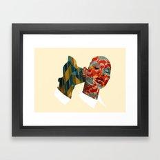 nibbling your ear Framed Art Print