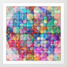Circles in circles Art Print