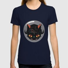 Devil cat Womens Fitted Tee Navy SMALL