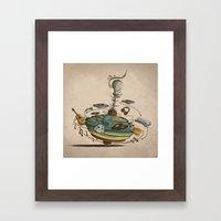 Music Spin Framed Art Print