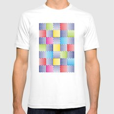 Dots #1 Mens Fitted Tee White SMALL
