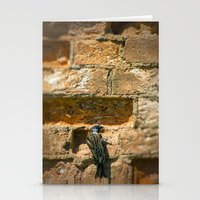 Bird on a wall Stationery Cards