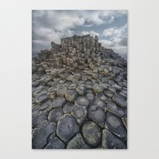 The world of hexagonal stones Canvas Print