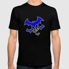 Bat Version 2 Black SMALL Mens Fitted Tee