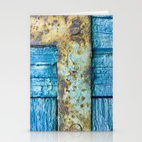 Rotten blue shutter detail Stationery Cards