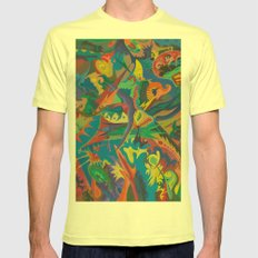 Crazy Dreams of Colour  Mens Fitted Tee Lemon SMALL
