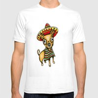 Mexican Chihuahua In Bro… Mens Fitted Tee White SMALL