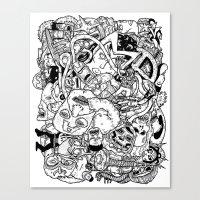 Mutant Pile-Up Canvas Print
