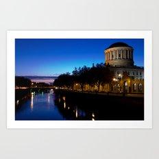 Four Courts Dublin Art Print