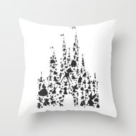 Throw Pillow featuring Character Castle...  by Studiomarshallarts