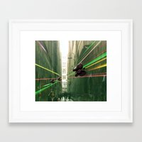 Butterfly Invasion Framed Art Print