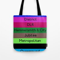 London Underground Tote Bag