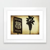 Route 66 California Palm Tree Framed Art Print