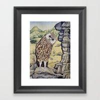 Laughing Owl  Framed Art Print