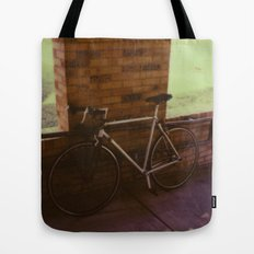 bikes on oak st Tote Bag