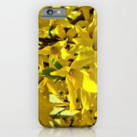 iPhone Cases featuring Yellow Flowers 2 by J.N.B.