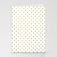 Golden Dots Stationery Cards