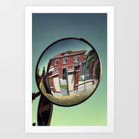 Street Mirror. Art Print