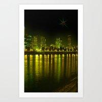Emerald City Of Roses Art Print
