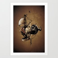 destructured pirate #Hook Art Print
