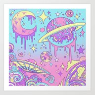 Galaxy Love. Art Print