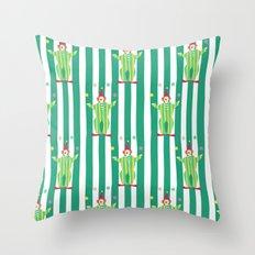 Clown (green) Throw Pillow