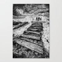 Storm - Ink Canvas Print