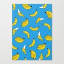 Banana Print Canvas Print
