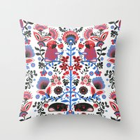 The Pug Of Folk  Throw Pillow