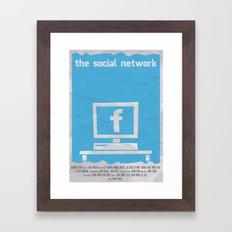 SOCIAL NETWORK Framed Art Print