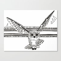 Owl fly you through the night Canvas Print