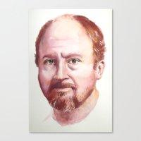 Portrait of Louis CK Canvas Print