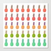 Pineapples - Tropicana Canvas Print