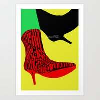shoes Art Prints featuring Shoes by BUBUBABA