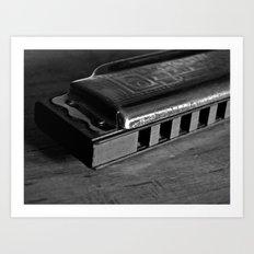 Black, White, & the Blues Art Print