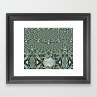 Jewelled Sage - Fractal Framed Art Print