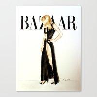 Harper's Bazaar Magazine Cover. Gwyneth Paltrow. Fashion Illustration  Canvas Print