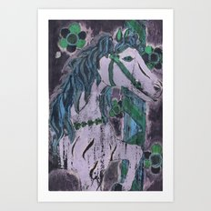 Purple Carousel Art Print