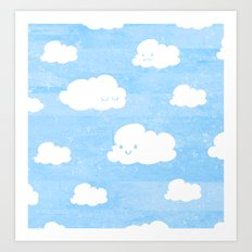 Weekends and Clouds Art Print