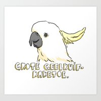 Sulphur-crested Cockatoo  Art Print