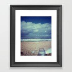 Tura Beach, Polaroid Framed Art Print