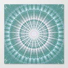 Rose Teal Mandala Canvas Print