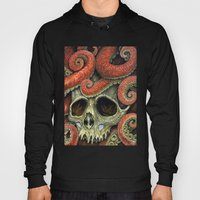 Orange Tentacles Skull Hoody