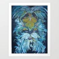 The Bearded Dragon Art Print